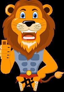 Istuva leijona